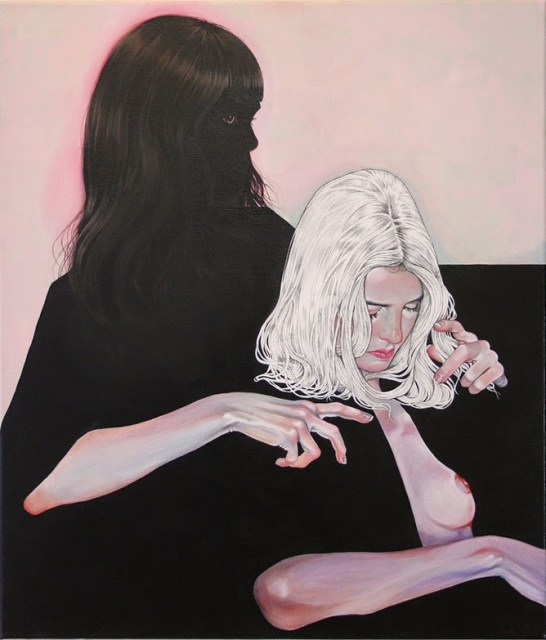 "painting ""Dear Darkness"" by Martine Johanna"