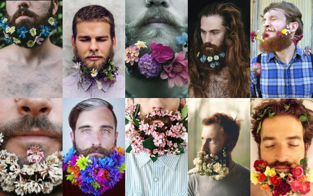 floral beards collage