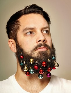 man with beard baubles