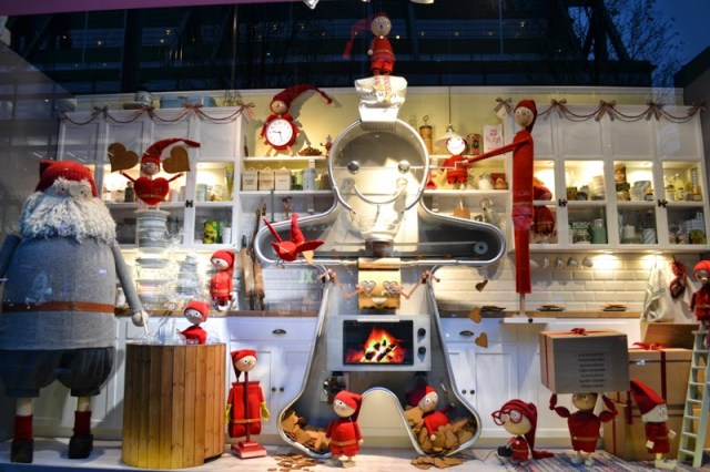 giant gingerbread man kitchen with elves