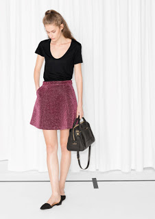 other stories pink glitter skirt