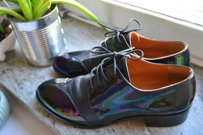 and other stories petrol metallic shoes