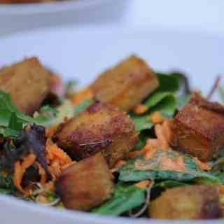 Tofu Satay Peanut Salad