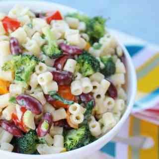 fried dandelions // Summer Macaroni Salad from Pure and Beautiful Vegan Cooking by Kathleen Henry
