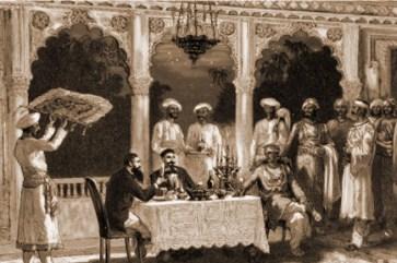 British Raj meal