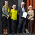 Sandy Marshall, Gloria Jones, John Simpson and Judy Langhorn with their award