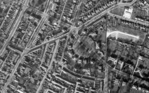 Pittville Circus, an aerial view RAF, 1 Apr 1946