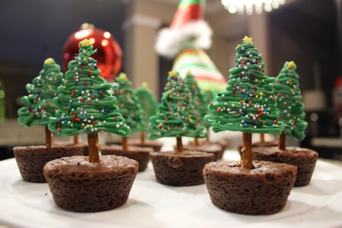 christmas brownie dessert christmas tree dessert