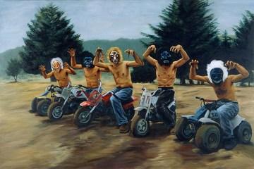 I tenenbaum (2001) | l'opera è dell'artista messicano Miguel Calderón: Wes Anderson la acquistò in una galleria d'arte e la inserì nel film
