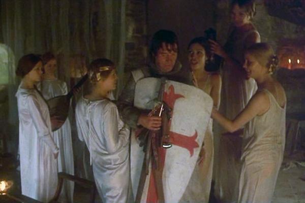 Monte pyton holy grail maidens spank