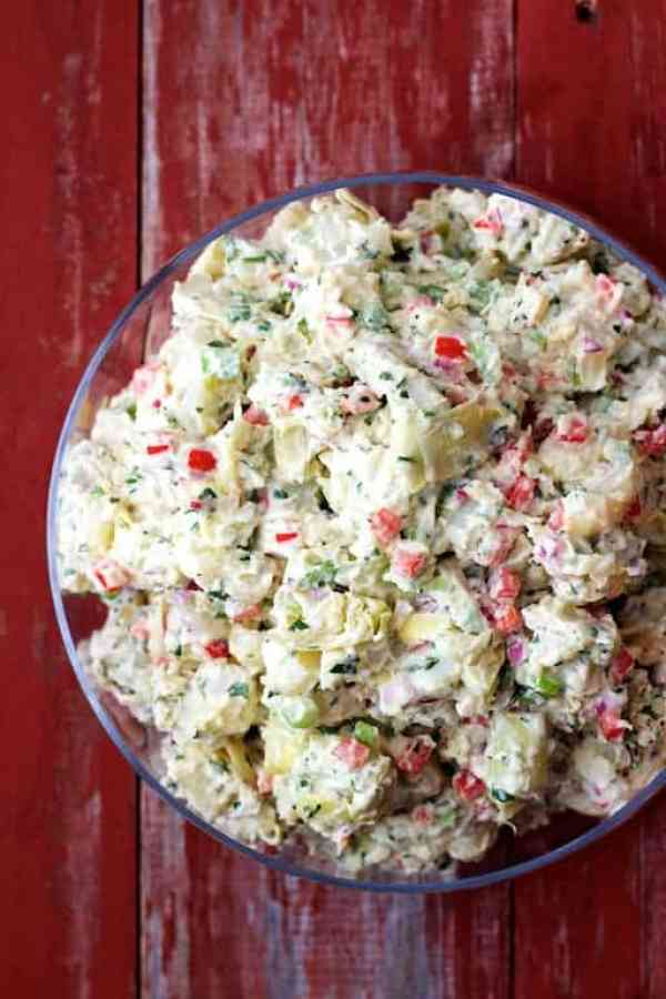 This Potato Artichoke Salad with Horseradish Dressing is one they ...