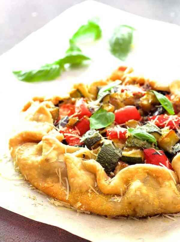 Mediterranean Roasted Vegetable Galette - From A Chef's Kitchen