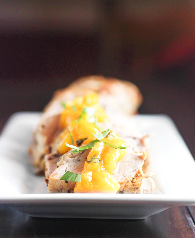 Pork Tenderloin with Peach Basil Compote - From Calculu ...
