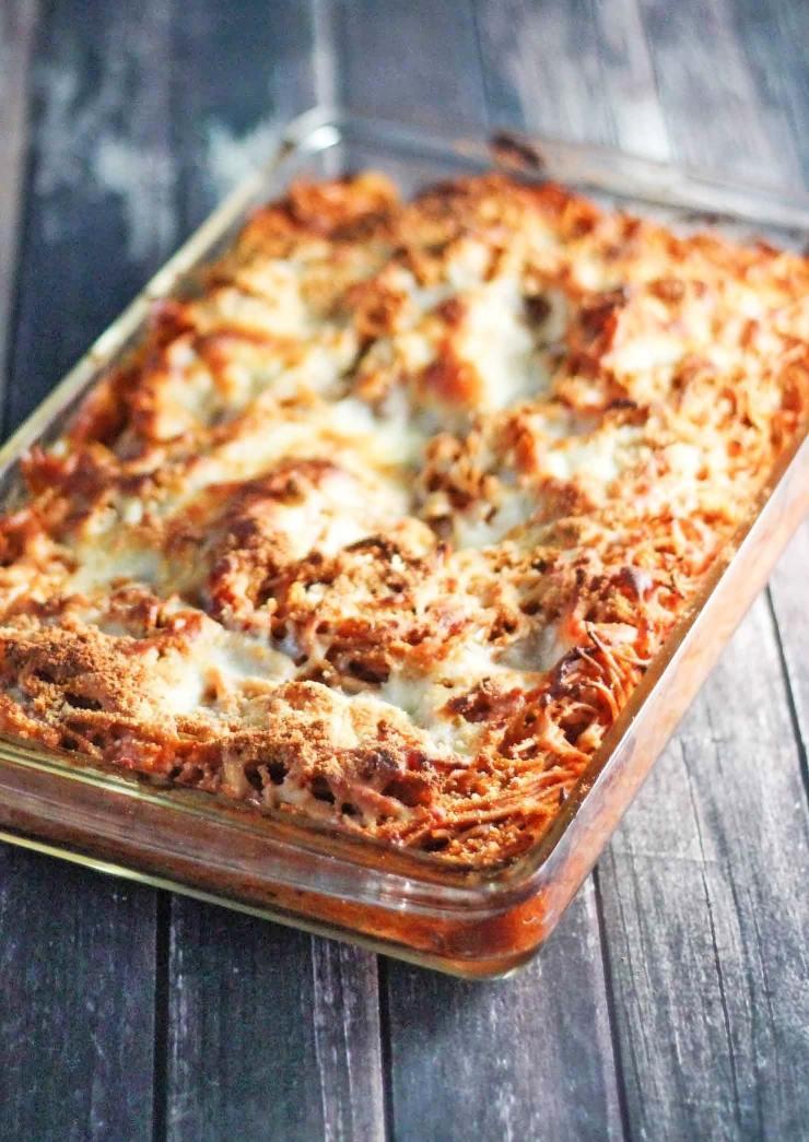 Chicken Spaghetti Casserole - From Calculu∫ to Cupcake∫