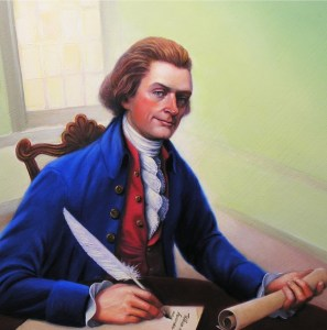 Jefferson Writing Declaration of Independence
