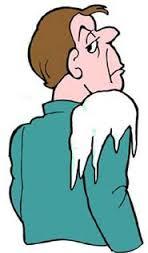 man with cold shoulder