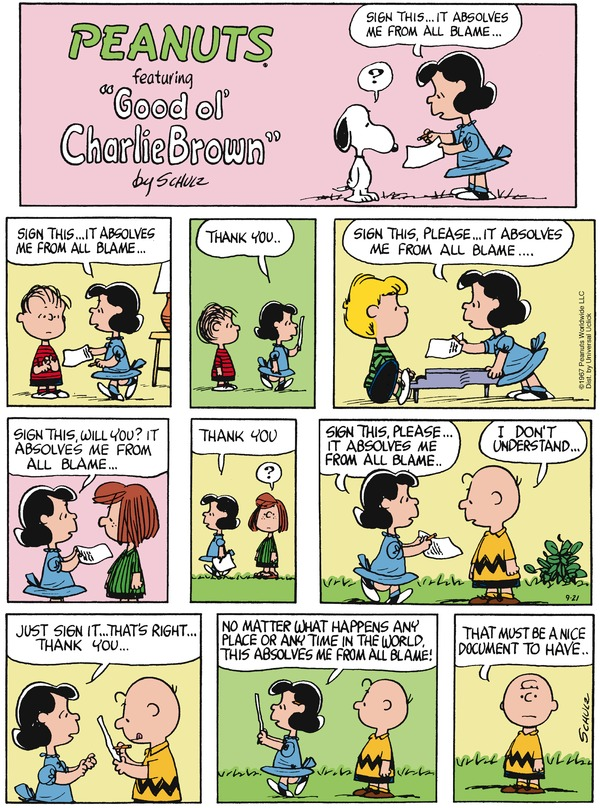 peanuts and blame