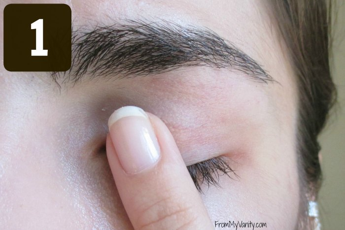 Secret to the Perfect Winged Liner Tutorial | Step 1 | FromMyVanity.com