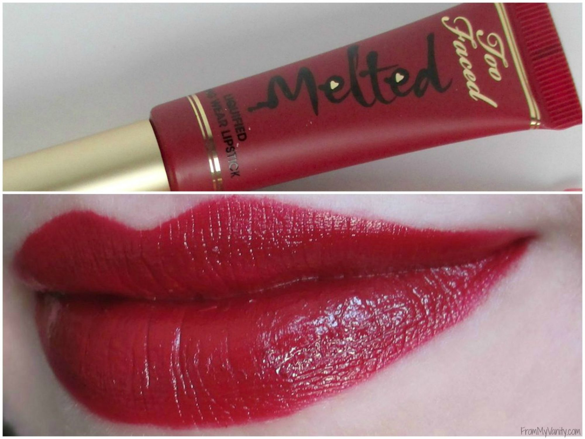 My Top 5 - Red Lipsticks // Christmas Lip Colors // Too Faced Lip Swatches // Collab with @BeautySection // @ladykaty92 FromMyVanity.com