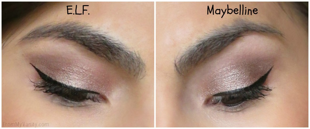Dupe or Dud // Maybelline Color Tattoo vs ELF Smudge Pot // Bad to the Bronze // Cruisin Chic // Eye Examples // FromMyVanity.com