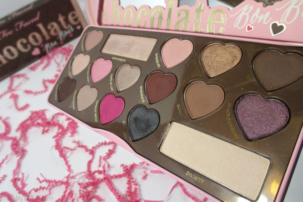 Too Faced Chocolate Bon Bons Palette // Review, Swatches, & Eye Looks // Open Palette // FromMyVanity.com