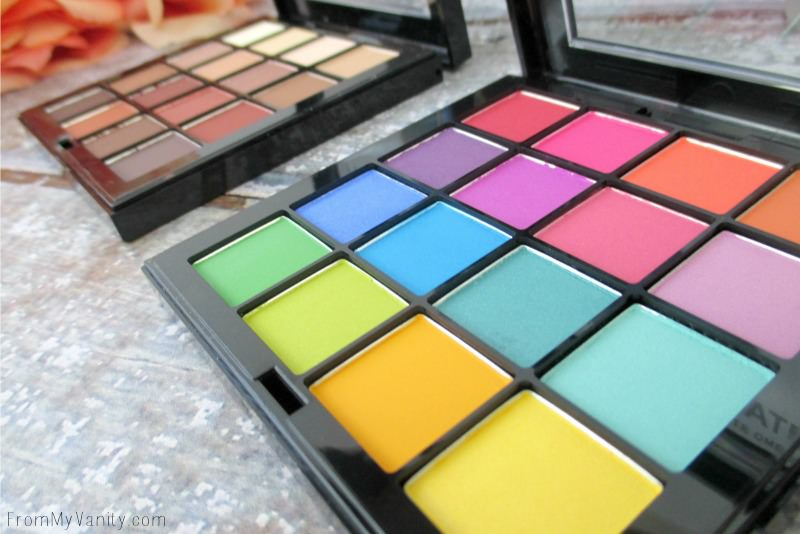 The beauty of this vibrant, neon Brights Ultimate palette from NYX!