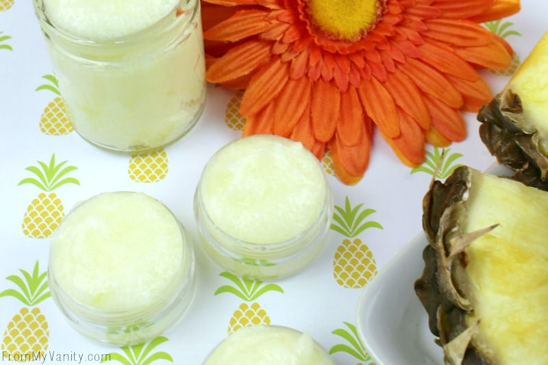 My favorite fruit is pineapple, so of course I want to make a DIY lip scrub with it!