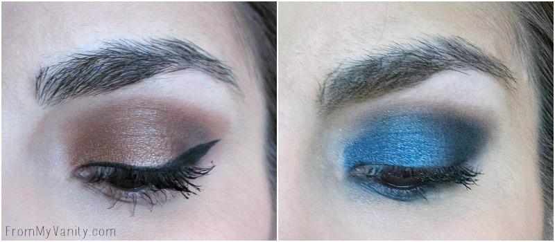 Eye looks created using the Semi Sweet palette!