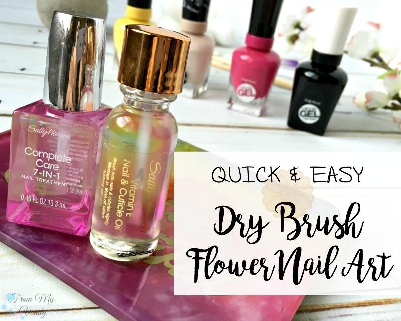 Easy Flower Nail Art Design - Dry Brush Flower