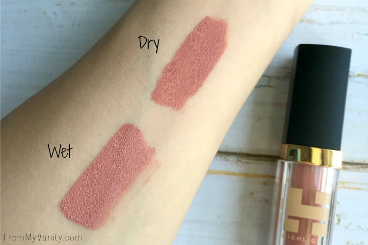 Swatches of the NEW Highlight Cosmetics liquid lipstick in Moroccan Spice