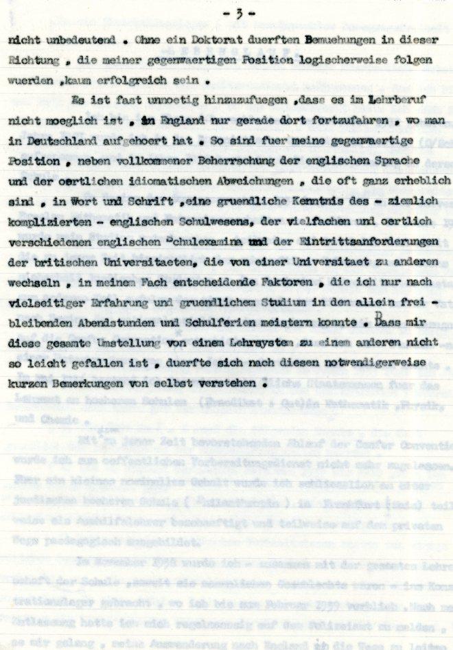 Lebenslauf: Werner Weissenberg, page three