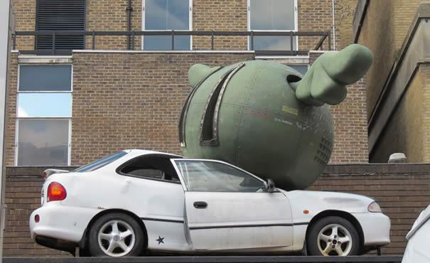 Car installation - Brick Lane