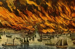 Pintura del Gran Incendio de 1966