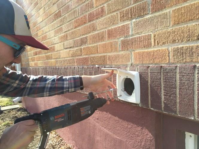 Install Exhaust fan wall duct kit