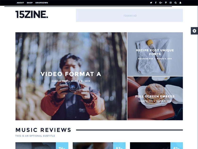 15Zine Affiliate WordPress Theme by Cubell Themes