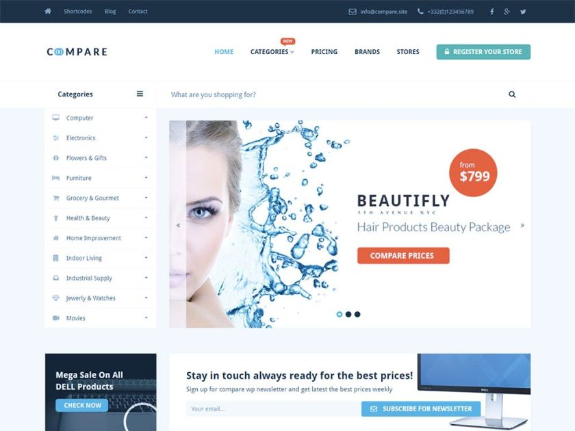 Compare Affiliate WordPress Theme by Powerthemes