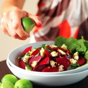 beet & paneer salad
