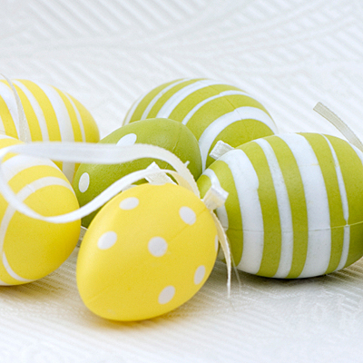 Patterned Plastic Easter Eggs - iStock