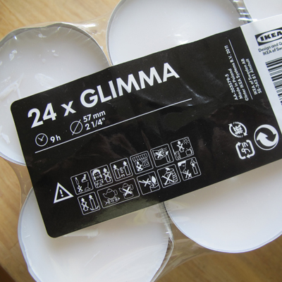 Glimma 9 hour  Tea Lights