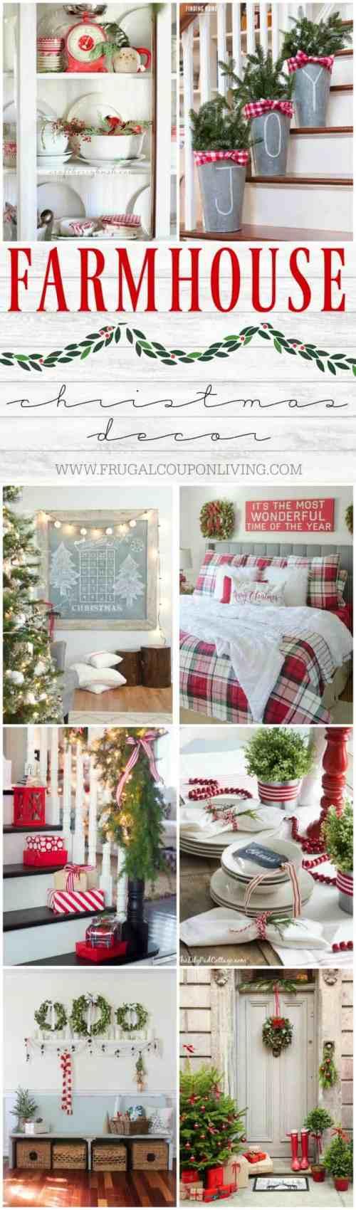 Medium Of Farmhouse Christmas Decor