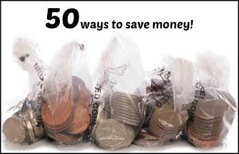 50 ways to save money
