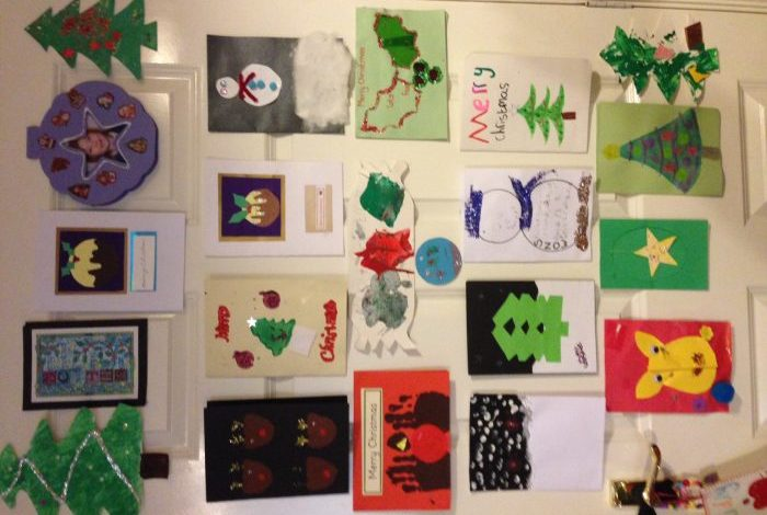 What do you do with all of your children's Christmas cards from over the years?  Here's what we do with ours….