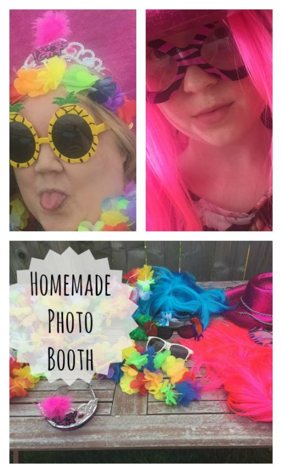 how to make a homemade photo booth