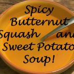 Super Soup – Spicy Butternut Squash and Sweet Potato Soup {Healthy, Delicious and great for Slimming World}….