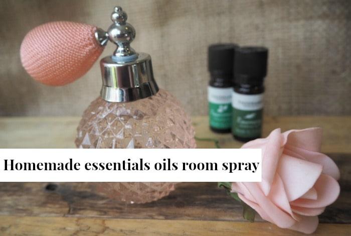Homemade essential oils room spray….