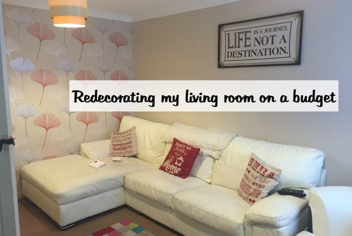 redecorating my living room on a budget in a day the