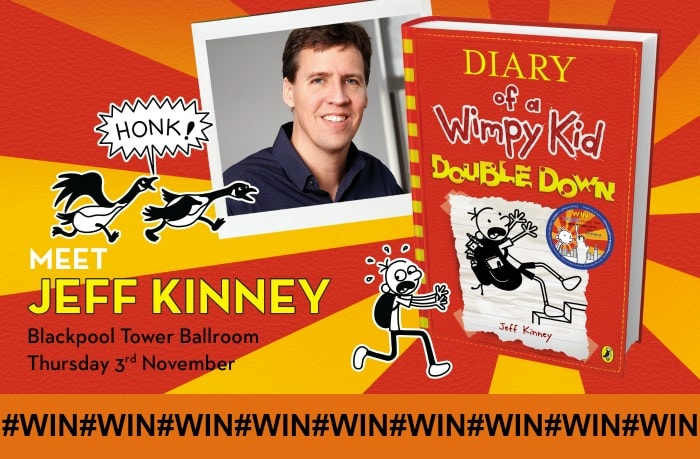 Win tickets to see WIMPY KID: Double Down LIVE with Jeff Kinney…..