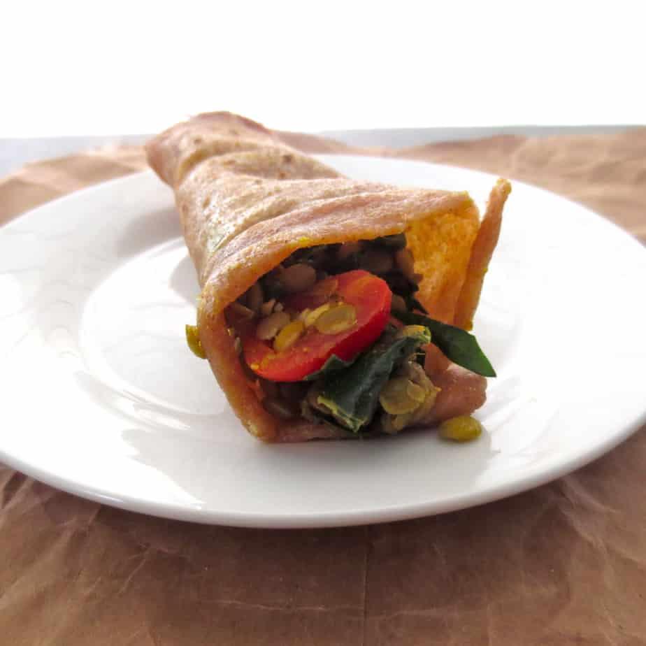 Lentil Curry Wrap