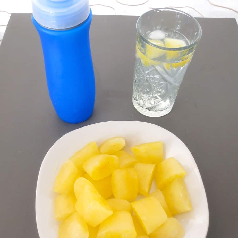 Homemade Electrolyte Ice Cubes