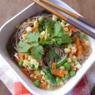 Egg-Drop Soba Ramen With Veggies